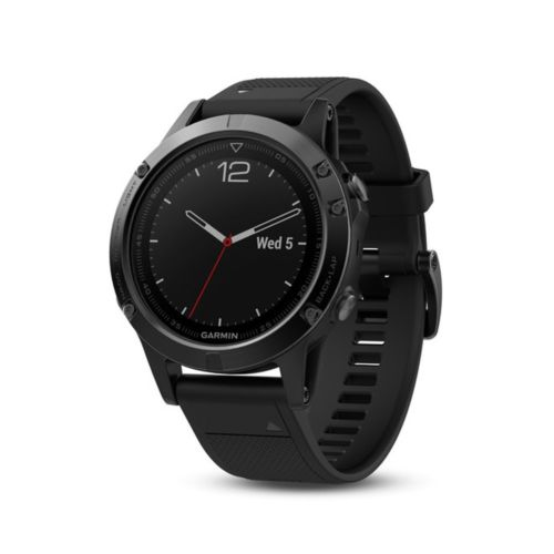 Garmin Fenix 5S - black /schwarzes Armband - Saphir Edition -  HR  -NEU