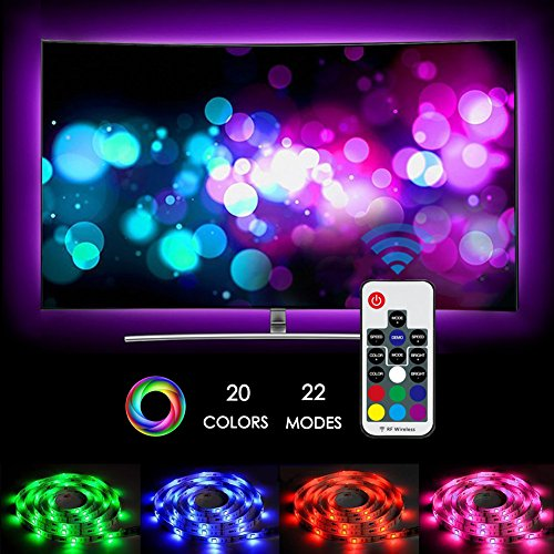 2M LED TV Backlight Bias Lighting USB LED Light Strip with Remote Controller for 40 To 60 Inch HDTV,PC Monitor