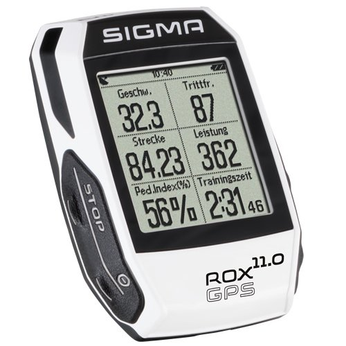 Sigma Sport Fahrrad Computer ROX 11.0 GPS white, Track-Navigation, Smart-Connectivity, Strava, Weiß