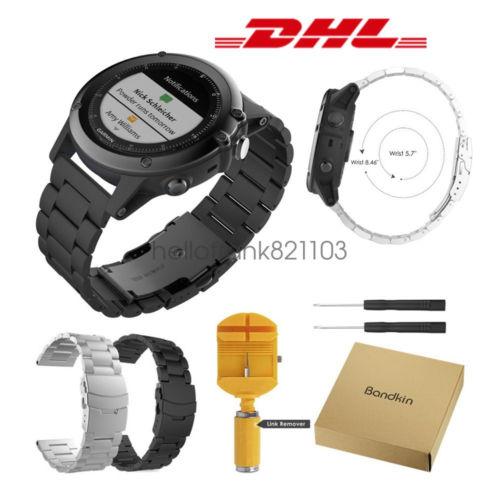 Ersatz Edelstahl Sportuhren Armband Watch Band Tool für Garmin Fenix 3 / HR / 5X