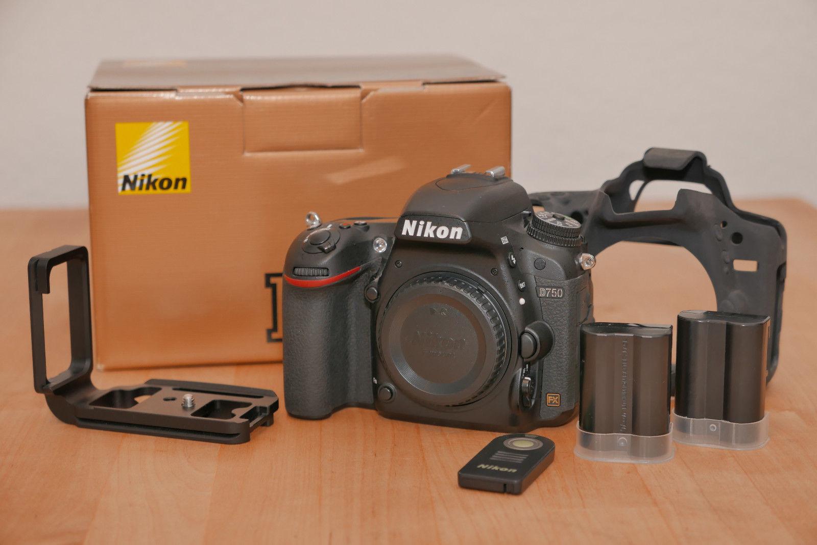 Nikon D750 OVP 24.3 MP Schwarz (ohne Objektiv) sehr guter Zustand + Zubehör