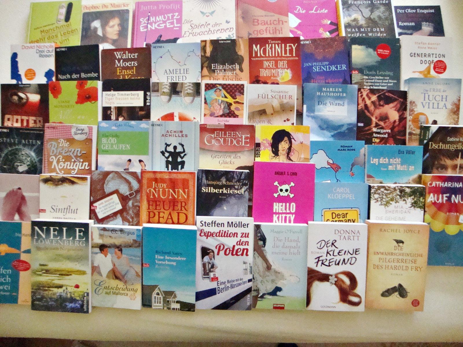 Bücherpaket, 52 Taschenbücher und Gebundene Bücher, Frauenromane, Belletristik