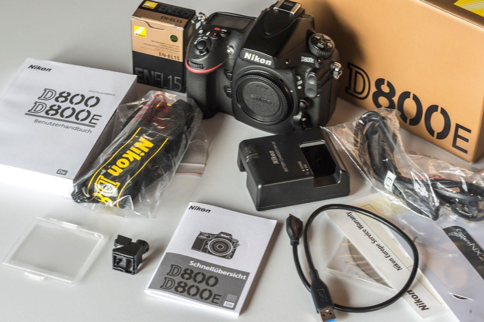 Nikon D800E Digitalkamera Gehäuse Body Shuttercount Ausl. unter 36000