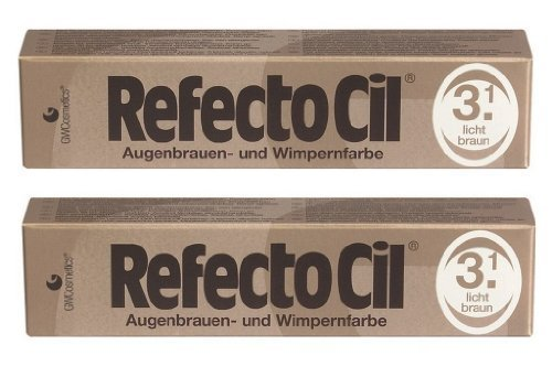 Refectocil Augenbrauen & Wimpernfarbe 3.1 lichtbraun SET 2 x 15ml
