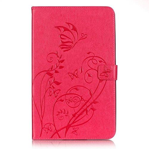 KATUMO Rose Rot Taschen & Schalen Tablet Tab A 10.1''( 2016 Version) Schutzhülle Etui mit Standfunktion[Flip Cover][Anti-Scratch ] Ultra Slim Smart Case Handytasche für Samsung Galaxy Tab A 10.1''( T580 T585 ) Hülle Leder Handy Schale