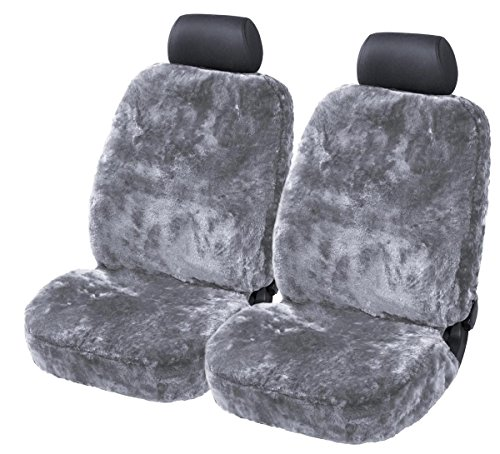 Torrex 2 PC Universal Car Full Lambskin Cover - Fully Upholstered in silver