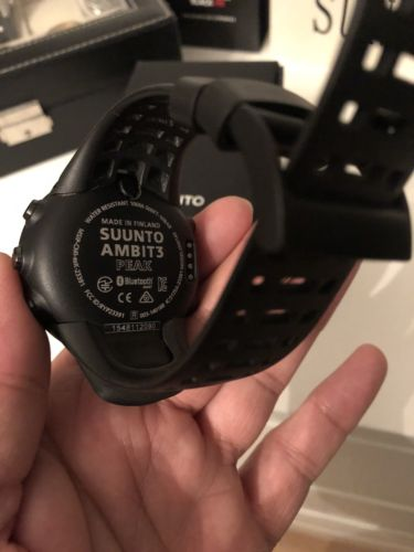 Suunto Ambit3 Peak Black HR GPS Smart Watch in OVP + Zubehör