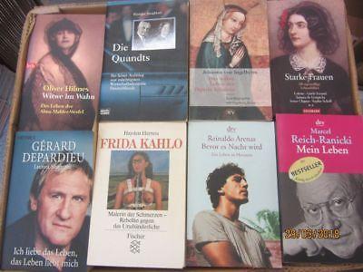 78 Bücher Biografie Biographie Lebenserinnerungen Autobiografie Lebensgeschichte