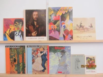 56 Bücher Bildbände Maler Malerei Künstler Gemälde Dürer Daummier Renoir u.a.