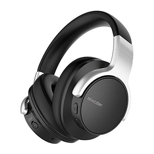 Noise Cancelling Bluetooth Kopfhörer Mixcder E7 kabellose Kopfhörer over Ear mit aktiver Rauschunterdrückung 20 Stunden Akkulaufzeit - schwarz