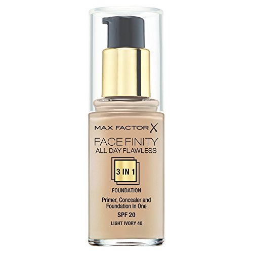 Max Factor Facefinity All Day Flawless 3-in-1 Foundation, 30 ml, Light Ivory