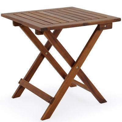 Beistelltisch Klapptisch Gartentisch Holz Tisch Kaffeetisch Garten Balkontisch