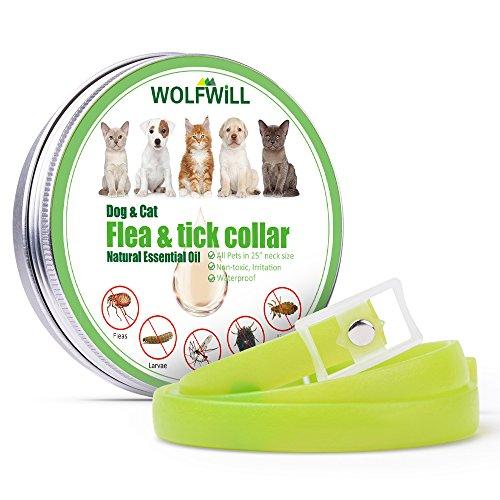 WOLFWILL Zecken-Flohband Ungezieferhalsband für Hunde und Katze-180 Tage Wirkung
