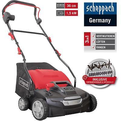 Scheppach Elektro-Vertikutierer SC36, 36 cm Arbeitsbreite, 1,5kW, 8 Messer