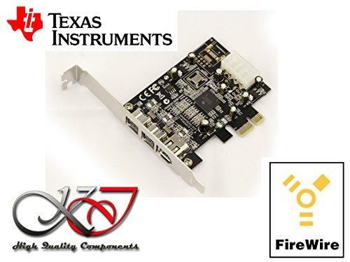 Kalea-Informatique PCI-Express-Karte / Controller-Karte (FireWire 800 und 400 / IEEE1394a und IEEE1394b über PCIe1x, 2+1 Ausgänge, Chipsatz TI Texas Instruments)