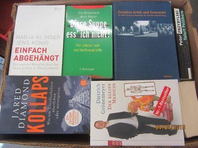 50 Bücher Sachbücher Softcover Wissenschaft Wirtschaft Politik Zeitgeschichte