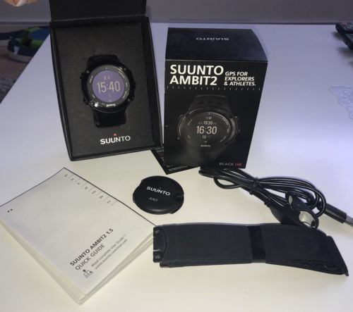 SUUNTO AMBIT2 HR GPS Sportuhr OVP mit Brustgurt(neu) Top Zustand