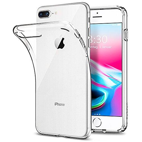 Silikon Hülle für iPhone 7 Plus 8 Plus Handyhülle TPU Transparent Weich Schutzhülle für iphone7 plus iPhone 8 plus Gute Passform Telefonkasten Schutz vor Fingerabdruck Staub Scratch