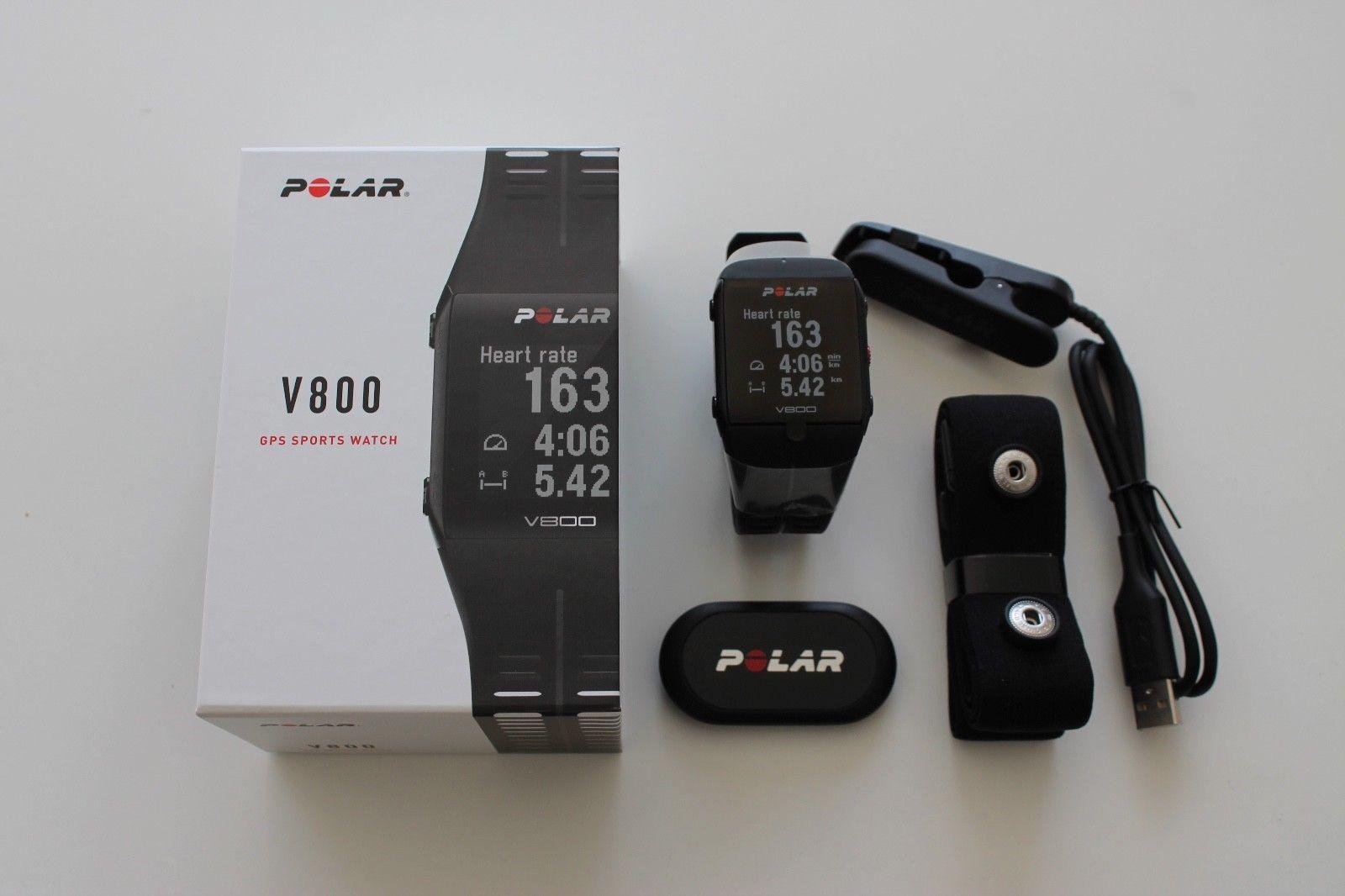POLAR V800 GPS Sportuhr - Schwarz, Neu & OVP