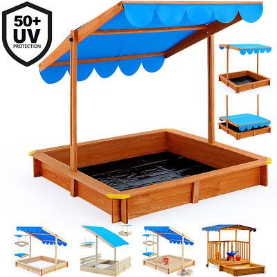 Sandkasten Holz Spielhaus Sandbox Sandkiste Buddelkiste Holzsandkiste Mit Dach