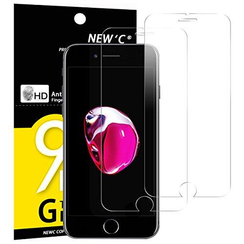 Panzerglasfolie Schutzfolie für iPhone 7 / iPhone 8, [2 Stück] NEWC® Tempered Glass 9H Hartglas, Anti Öl, Kratzen und Fingerabdrücke Blasenfrei, HD Displayschutzfolie, 0.33mm HD Ultra-klar für iPhone 7 / iPhone 8