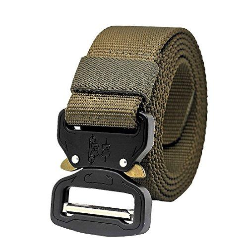 MOLLE Taktischer Gürtel Militärische Stil-Rigger Schnellverschluss Metal Schnalle Armee Rigger Waistbelt (Tan)