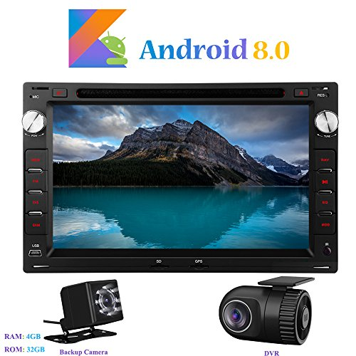Android 8.0 Car Autoradio, Hi-azul In-dash 2 Din 8-Core 64Bit RAM 4G ROM 32G Car Radio 7
