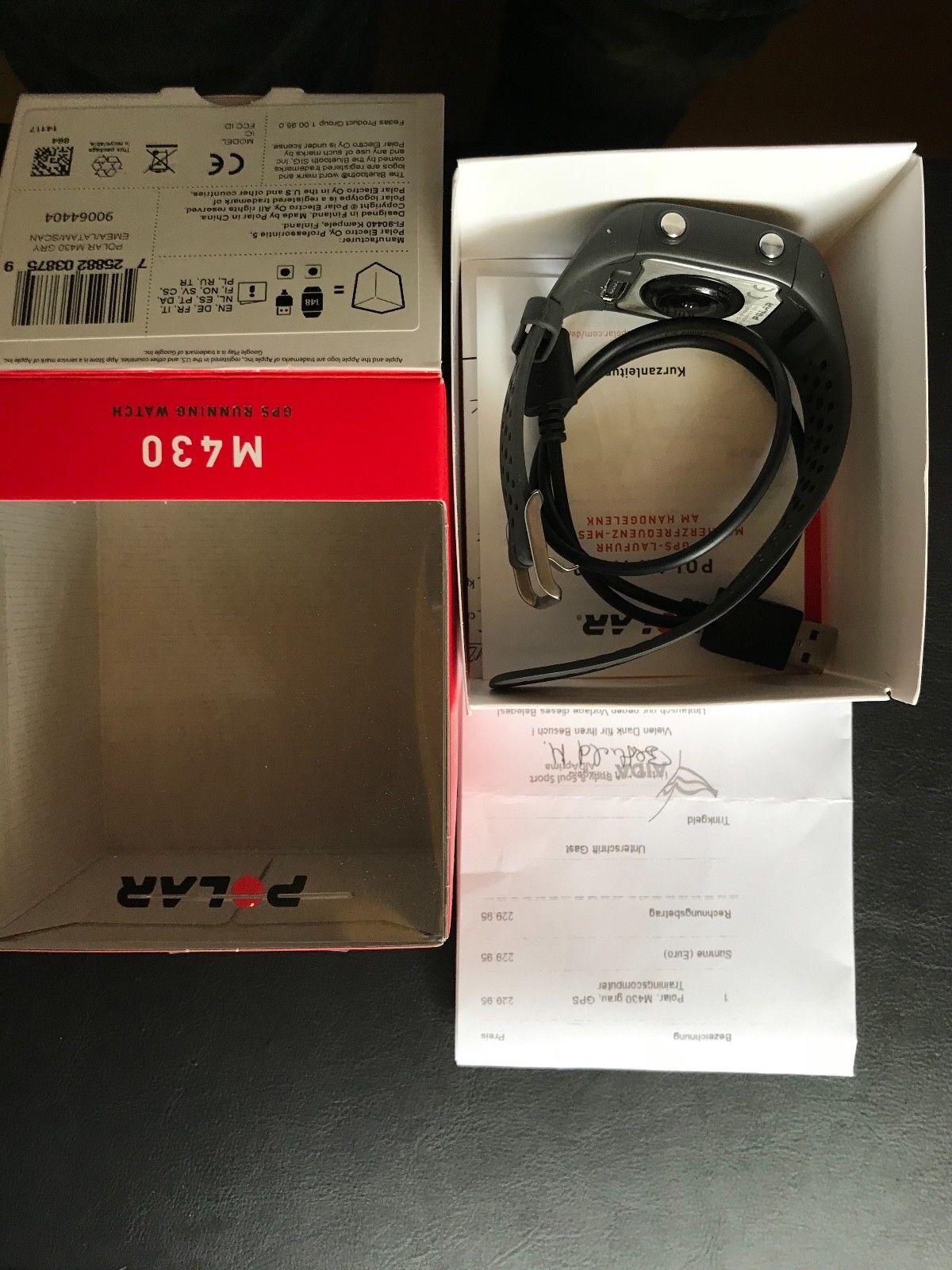 Polar M430, schwarz, GPS Sportuhr mit Pulsmessung am Handgelenk !!