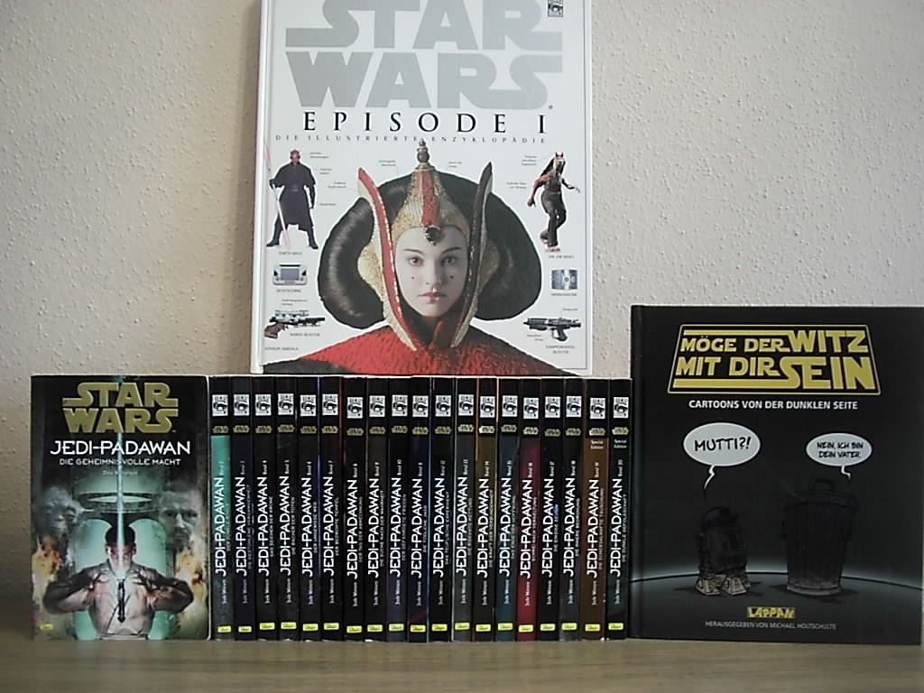 Bücher - Sammlung Star Wars - Jedi-Padawan 1-20 Komplett+Episode 1+. TOP Zustand