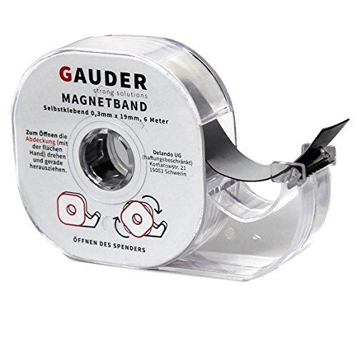 Magnetband selbstklebend im Spender I ORIGINAL von GAUDER I Magnet I Magnetklebeband I Magnetstreifen I Schule I Magnetband-abroller