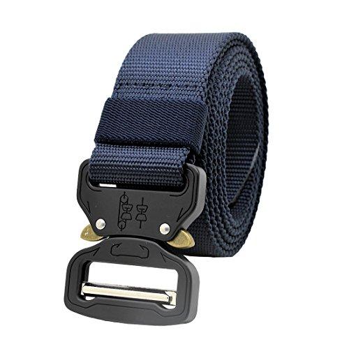 MOLLE Taktischer Gürtel Militärische Stil-Rigger Schnellverschluss Metal Schnalle Armee Rigger Waistbelt (Navy blau)