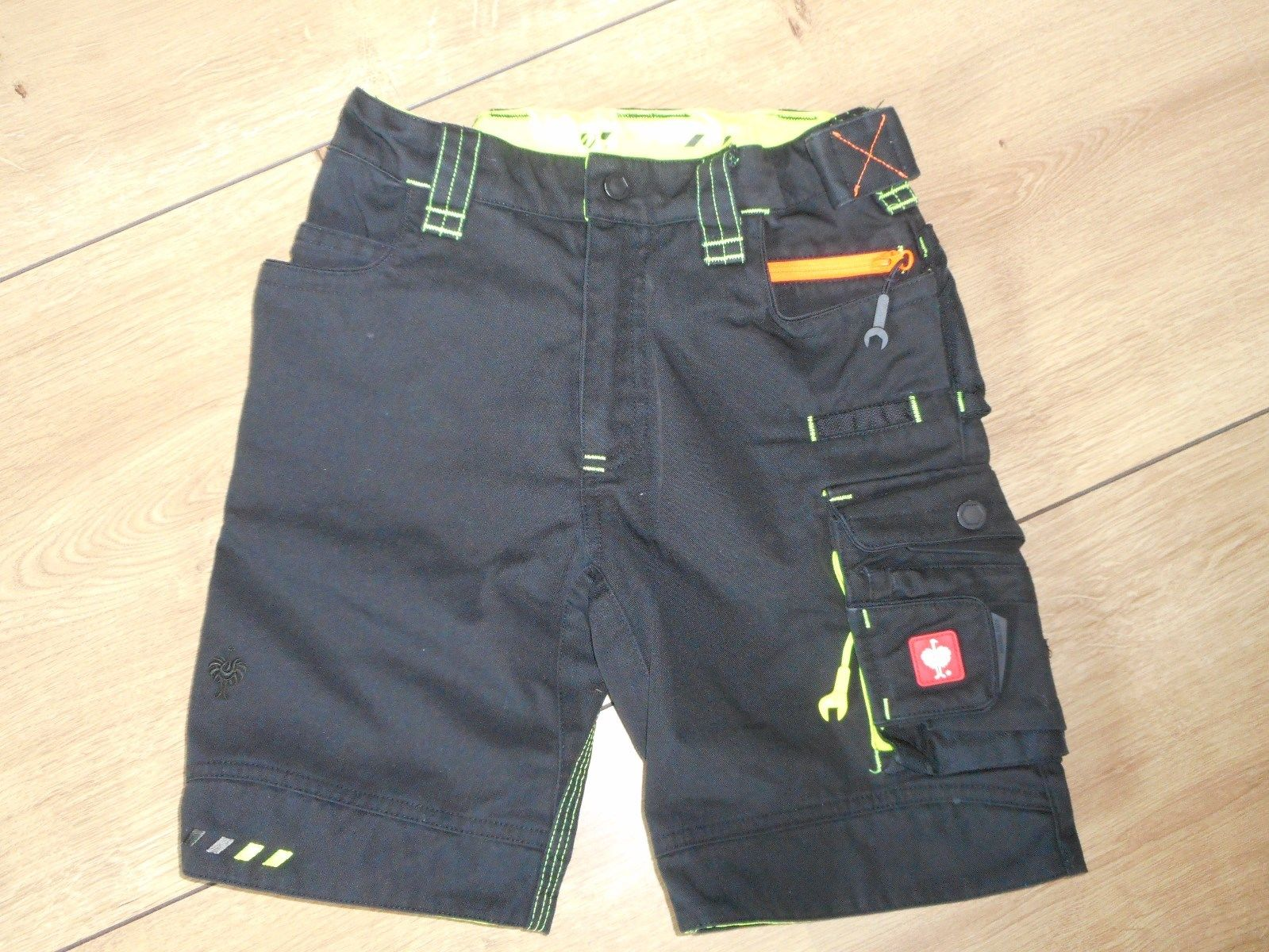 Engelbert Strauss Hose Short e.s. emotion 2020 schwarz neon Gr. 122 128 TOP