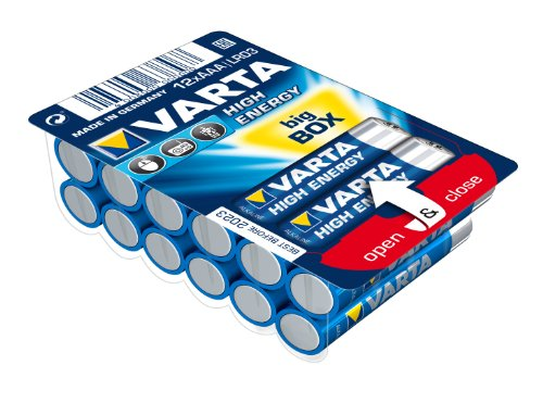 Varta High Energy Batterie AAA Mignon Alkaline Batterien LR03 - 12er Pack