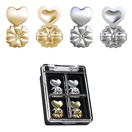 KOBWA Magic Bax Ohrringheber 2 Paar Magic Earring Back Einstellbare Hypoallergene Ohrring Passend Alle Post Ohrringe