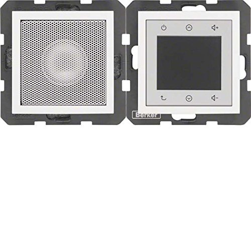 Berker Unterputz-Radio Touch, mit Lautsprecher, S.1/B.3/B.7, polarweiß matt, 28809909