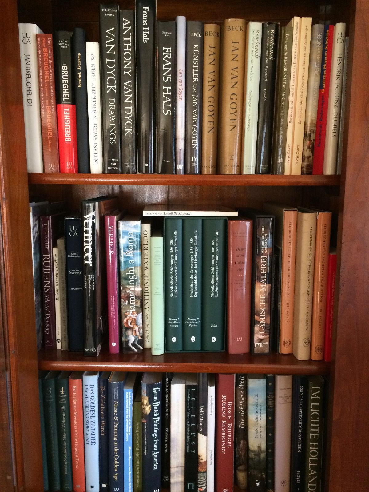 Kunstbuch-Bibliothek, +800 Positionen, teilw. antiquarisch, Eink.-Pr. +100.000€