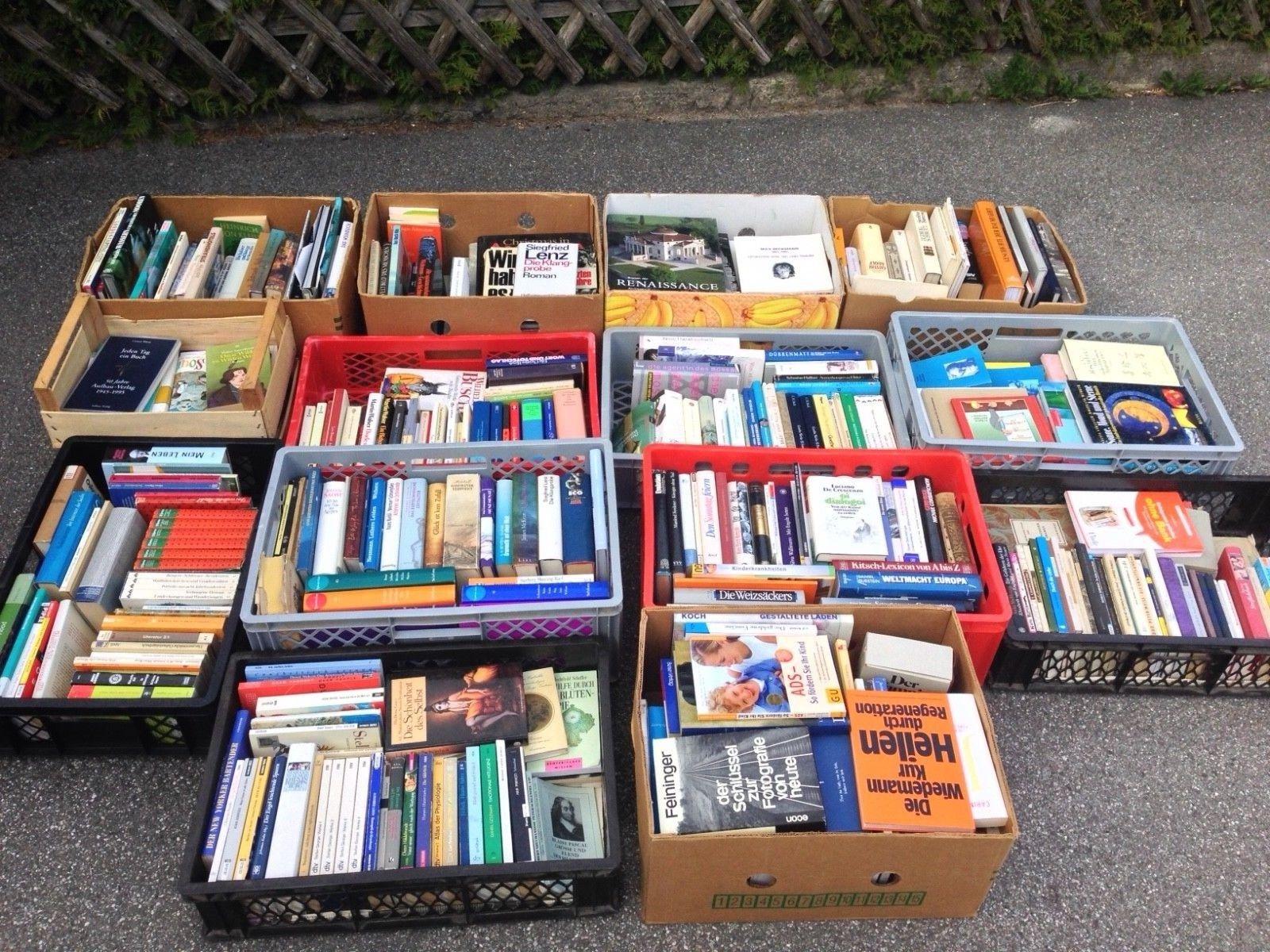Bücherpaket Verkaufe 14 Kisten Bücher