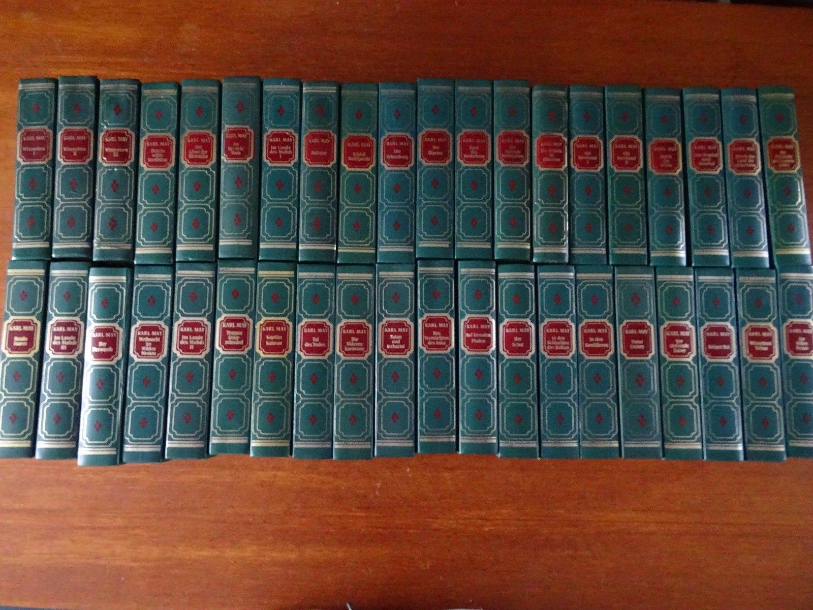 40 Bände Karl May Sammlung gesammelte Büchersammlung, Karl-May-Verlag, Bamberg
