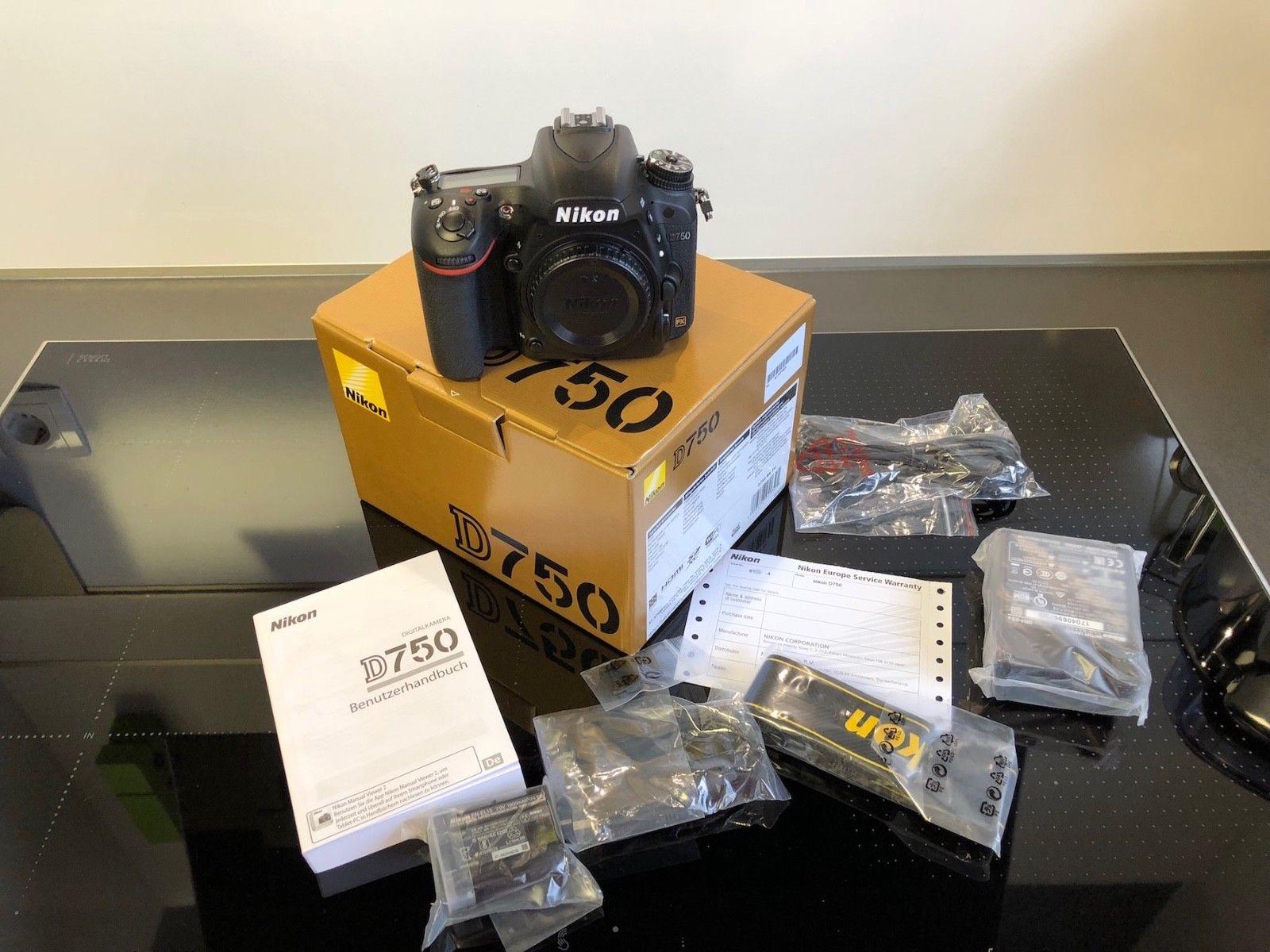 Nikon D D750 24.3 MP SLR-Digitalkamera - Schwarz (Nur Gehäuse) nur 3 Monate alt