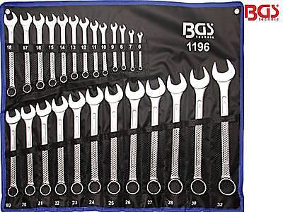 BGS 1196 25-tlg Satz Maulringschlüssel DIN3113 Maulschlüssel Ringschlüssel 6-32