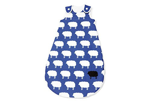 Pinolino 76522-1S110 - Kugelschlafsack Sommer 110 cm, 'Happy Sheep' blau