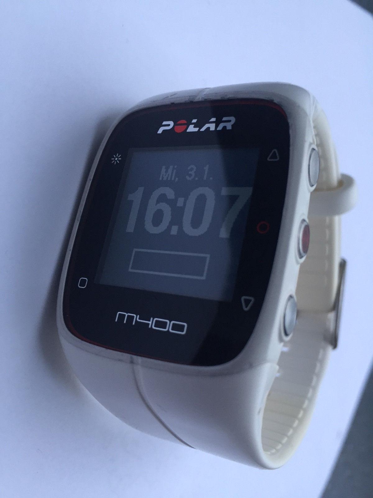 Polar M400 GPS-Laufuhr - 24/7 Aktivitätsmessung Weiß in OVP