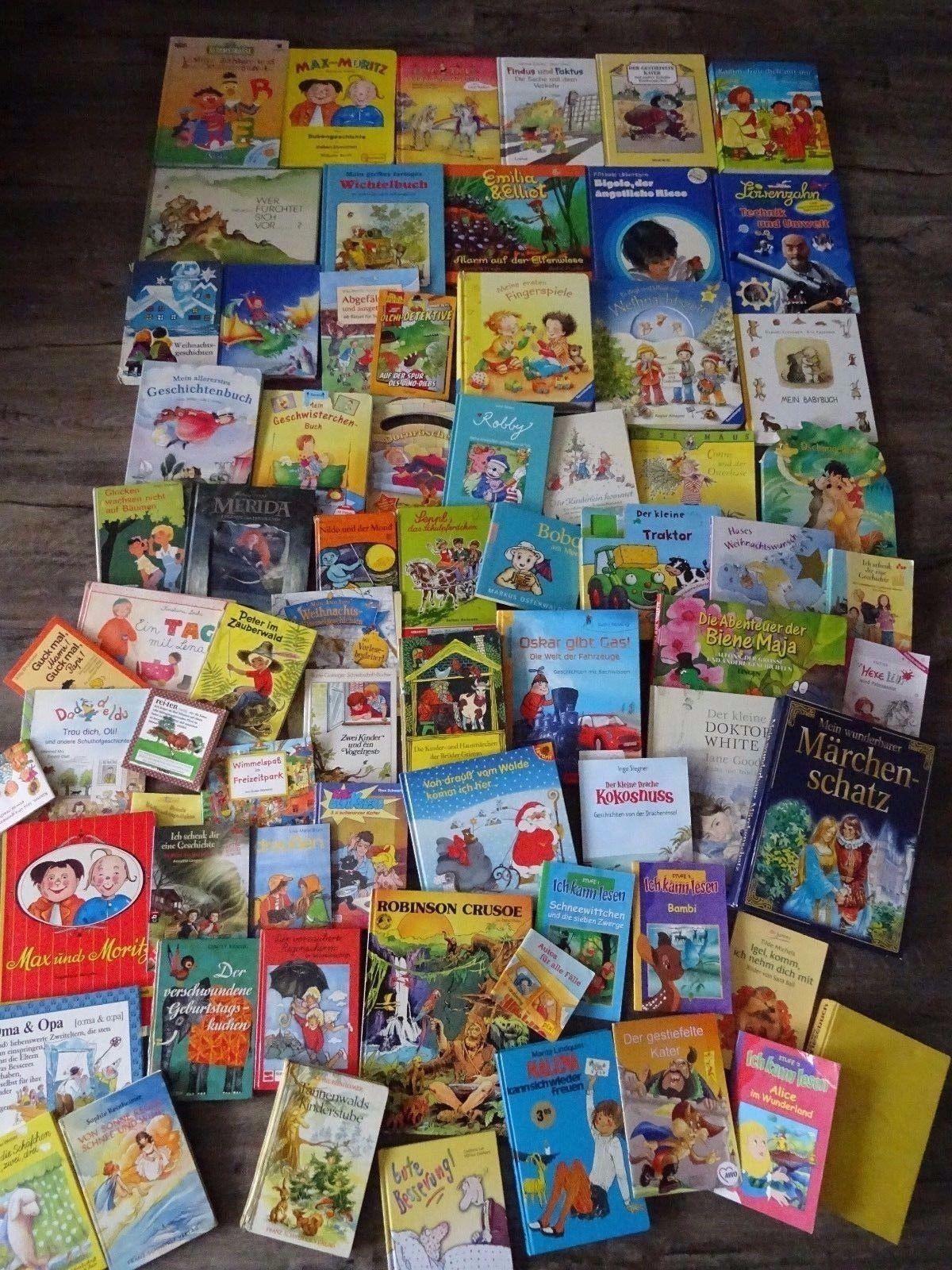 72 x Kinderbücher - Buchpaket /Sammlung  ab 1 bis 10 J.