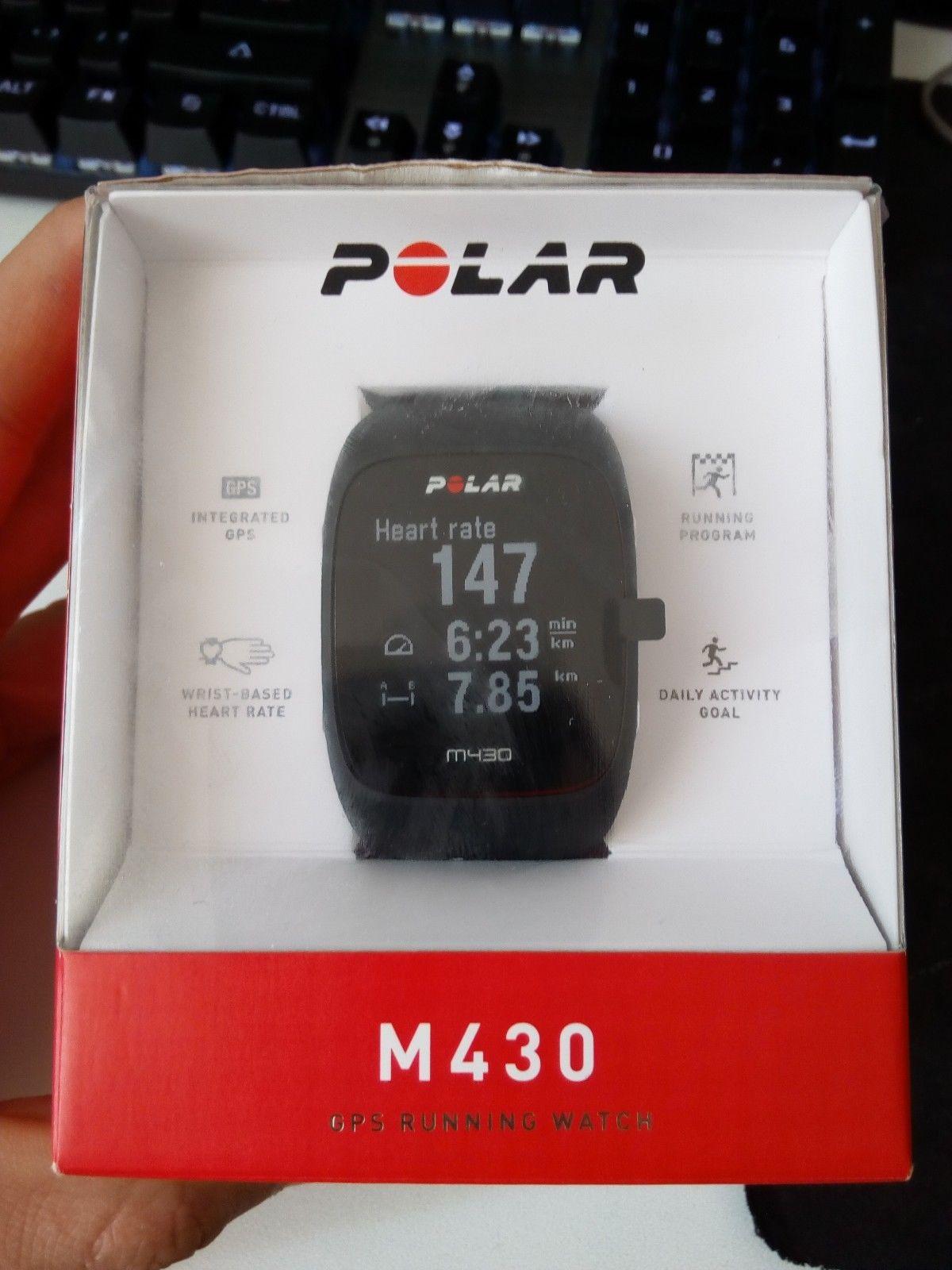 Polar M430, schwarz, GPS Sportuhr mit Pulsmessung am Handgelenk