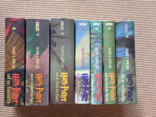 Harry Potter Band 1-7, gebunden, gut erhalten