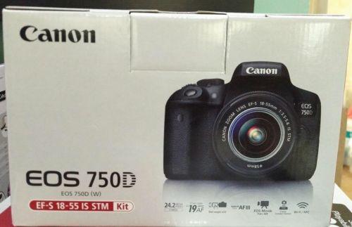 CANON EOS 750D  KIT 18-55MM III Spiegelreflexkamera 24.2 MP Deutsche Ware