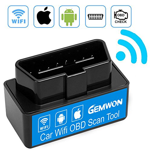 Mini Wifi OBD2, Elm327 OBD2 Scanner Werkzeug, Gemwon Mini Auto OBD2 OBDII Scan Tool Selbstdiagnosescanner Codeleser Check Engine für IOS & Android (Mini Black)