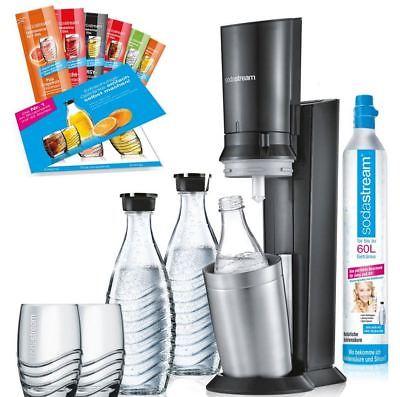 SodaStream Crystal 2.0 Wassersprudler Promopack titan incl. Zubehör