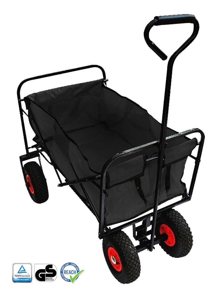 Transportwagen Bollerwagen faltbar Luftreifen klappbar Handwagen Strandwagen
