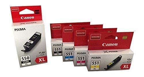 Canon CLI-551 XL / PGI-550 XL Set 5 Patronen Pixma iP7250, MG 5450, MG 6350